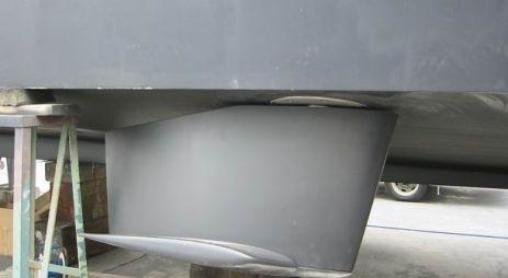 Establizadores en yate a motor