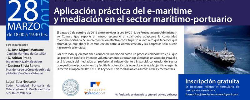 Conferencia: aplicación práctica del e-maritime y mediación en el sector marítimo-portuario