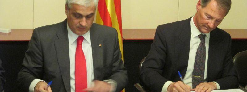 Firma de convenio de Mediación entre el Colegio de Ingenieros Navales y el Departament de Justicia